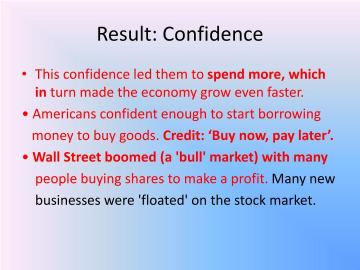 Result: Confidence