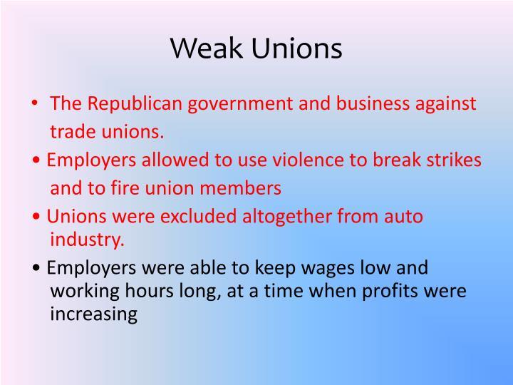 Weak Unions