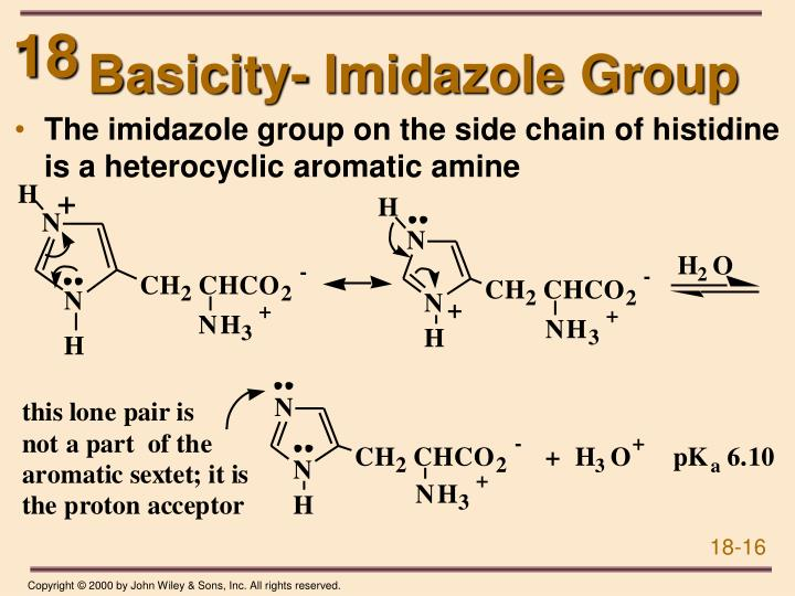 Basicity- Imidazole Group