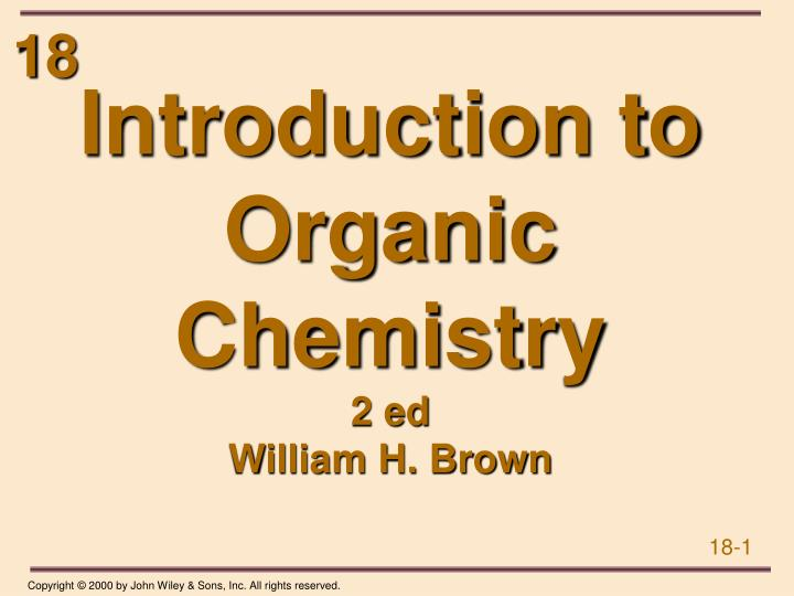 Introduction to organic chemistry 2 ed william h brown