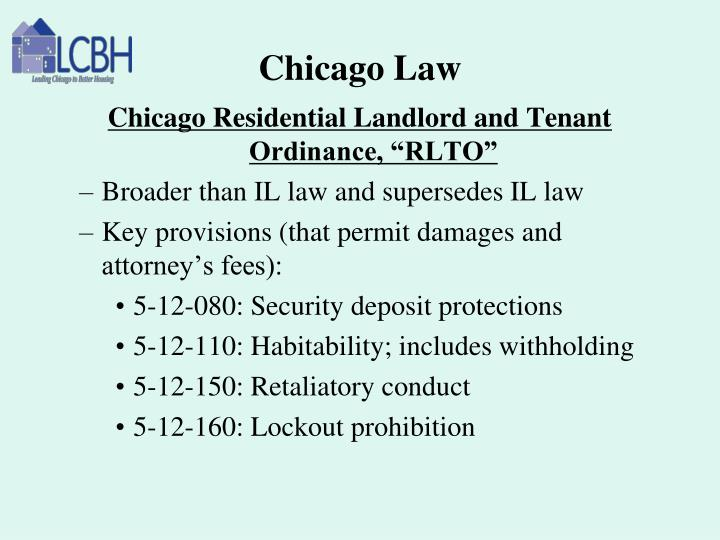 Chicago Law