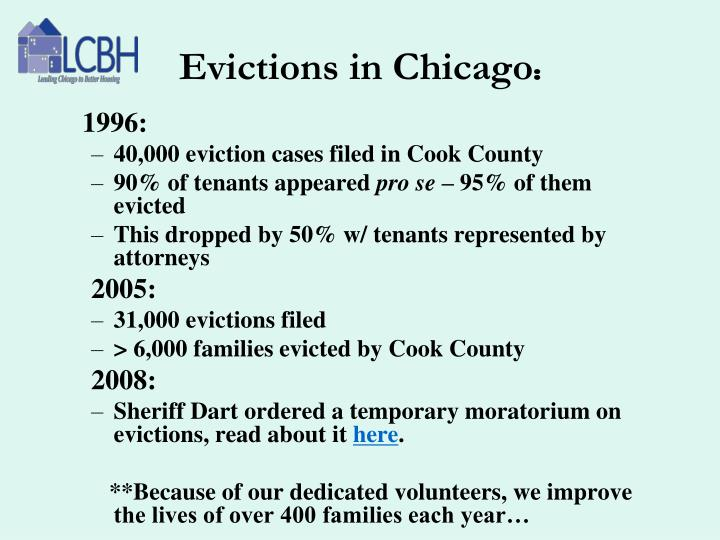 Evictions in Chicago