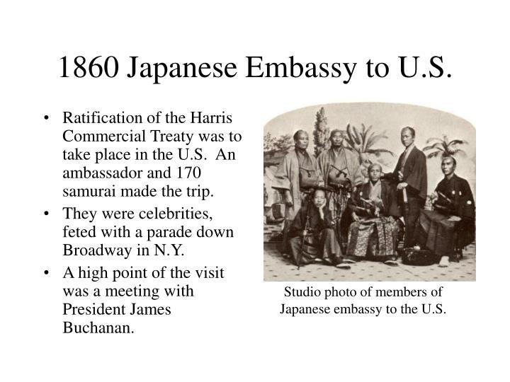 1860 Japanese Embassy to U.S.
