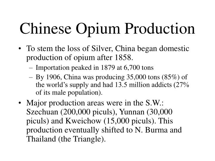 Chinese Opium Production