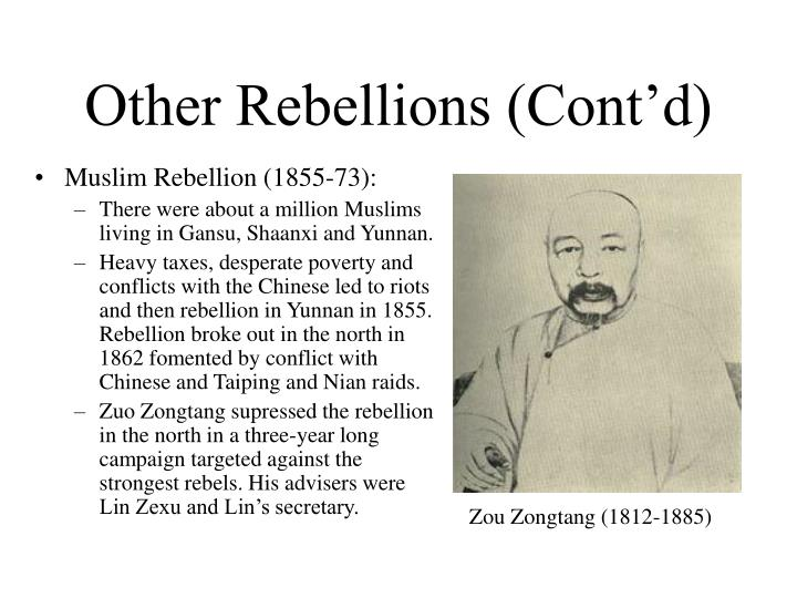Other Rebellions (Cont'd)