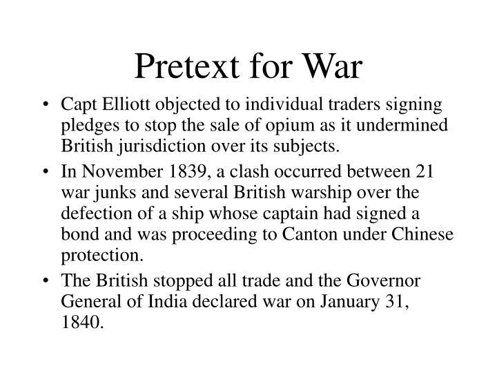 Pretext for War