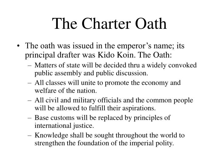 The Charter Oath