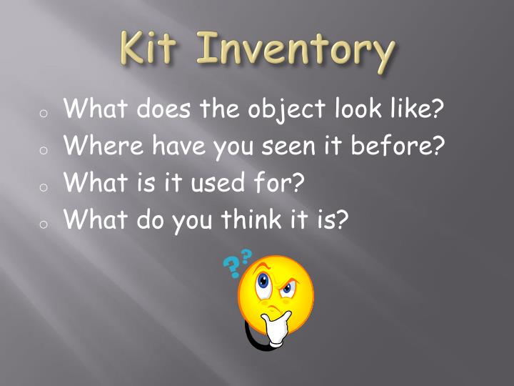 Kit Inventory