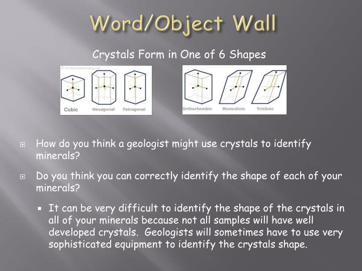Word/Object Wall