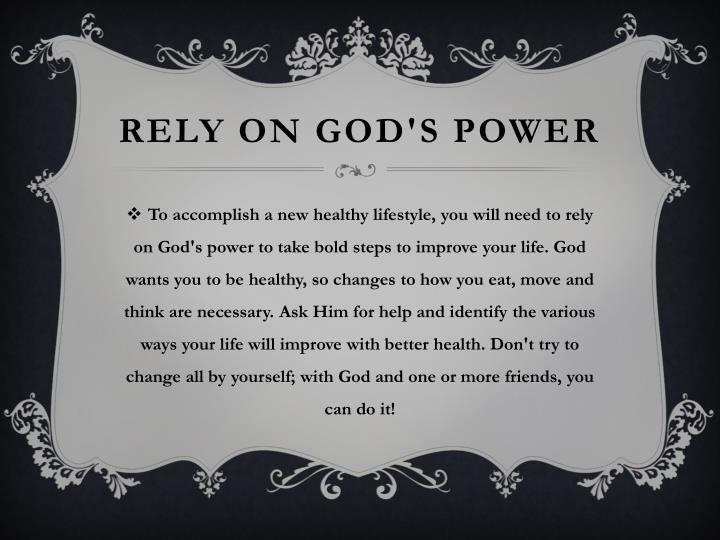 RELY on God's Power