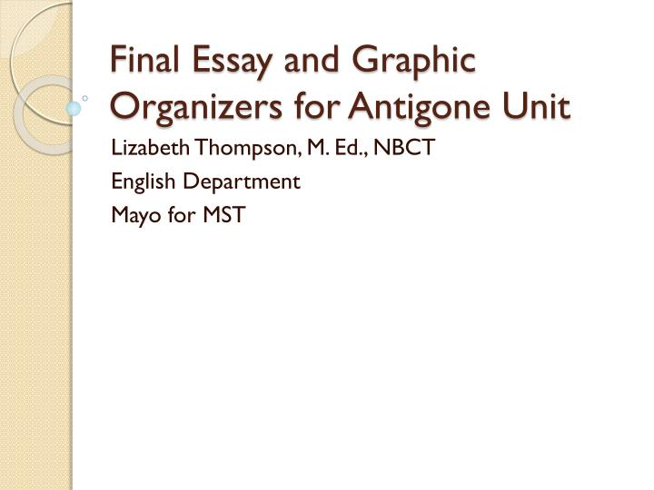Essay On Antigone