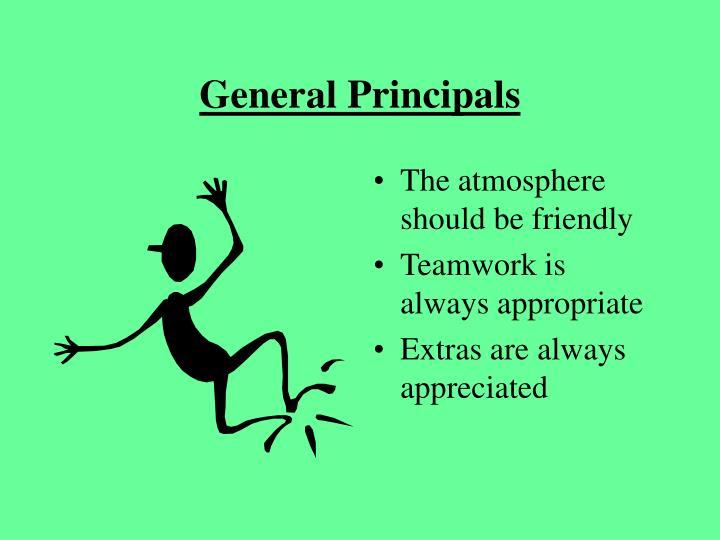 General Principals