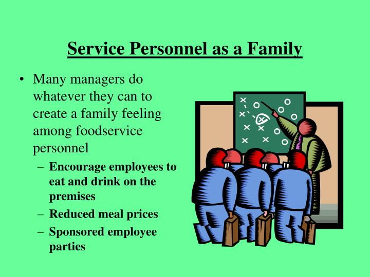 Service Personnel as a Family