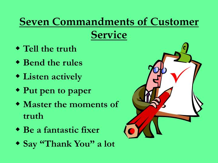 Seven Commandments of Customer Service
