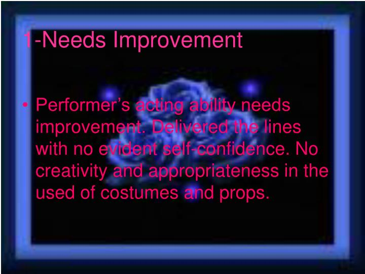 1-Needs Improvement