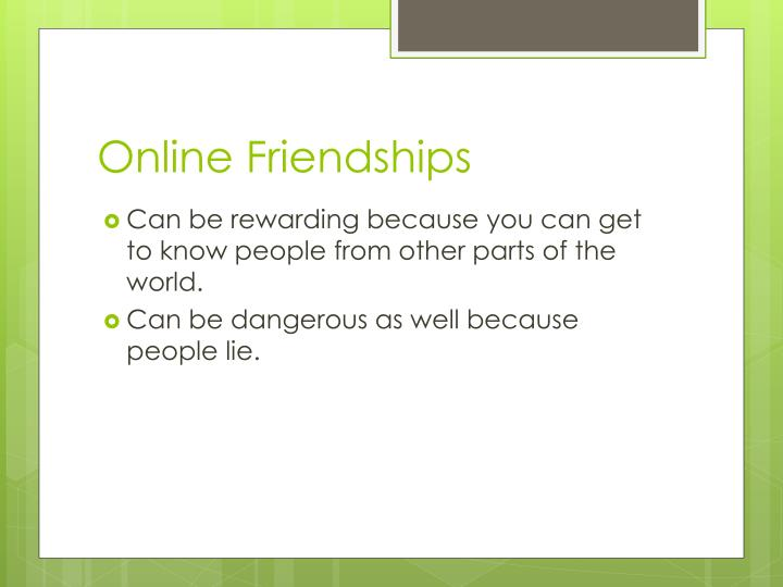 Online Friendships