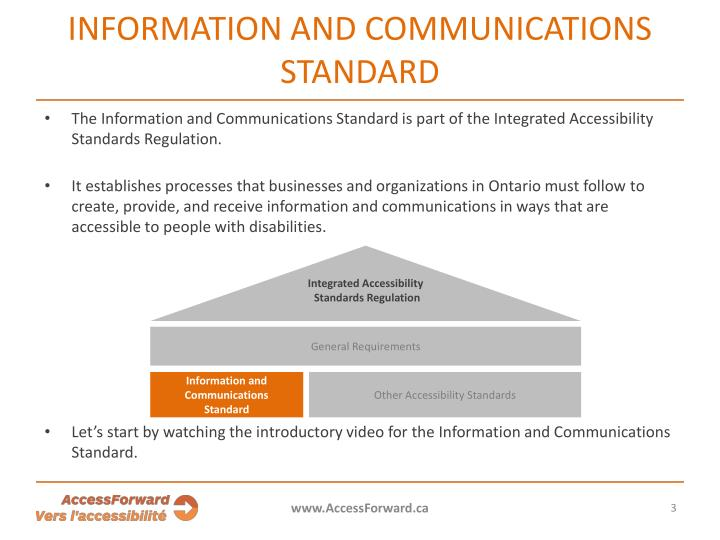 INFORMATION AND COMMUNICATIONS ST