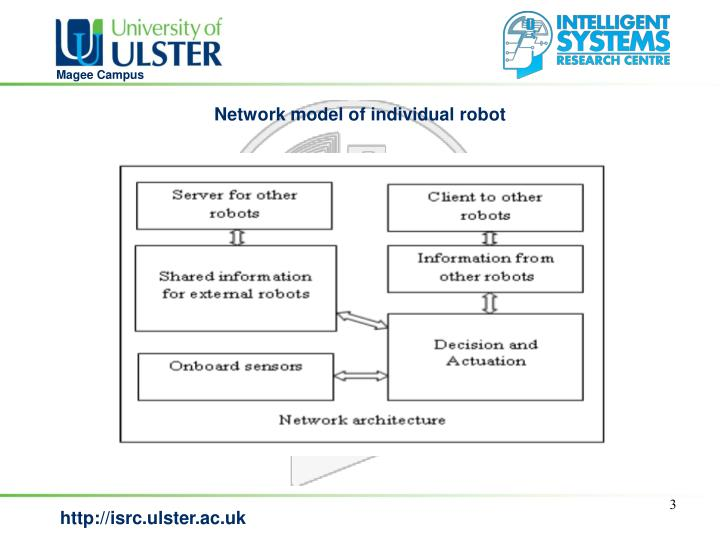 Network model of individual robot