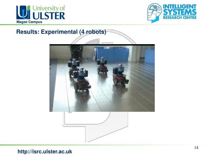 Results: Experimental (4 robots)