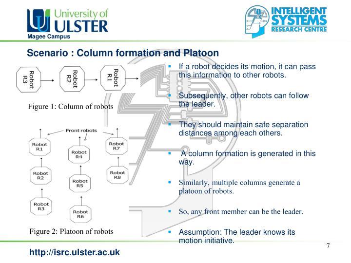 Scenario : Column formation and Platoon