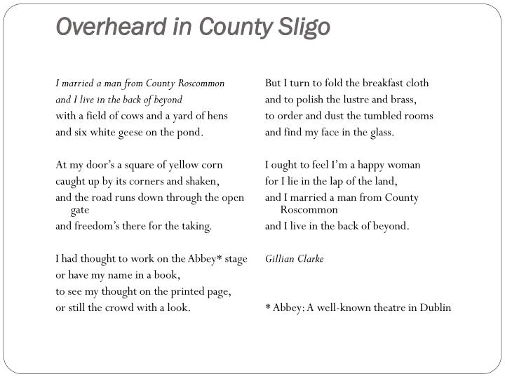 Overheard in County Sligo