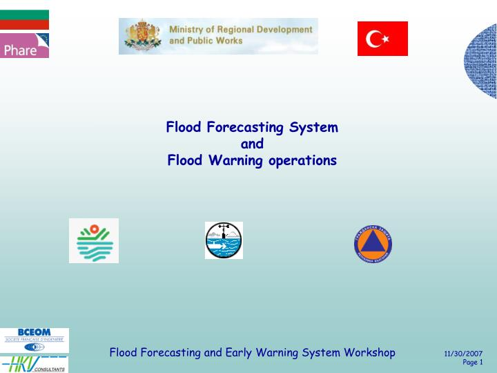 Flood forecasting system and flood warning operations