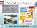 flood warning framework to be discussed