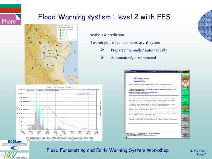 Flood Warning system : level 2 with FFS