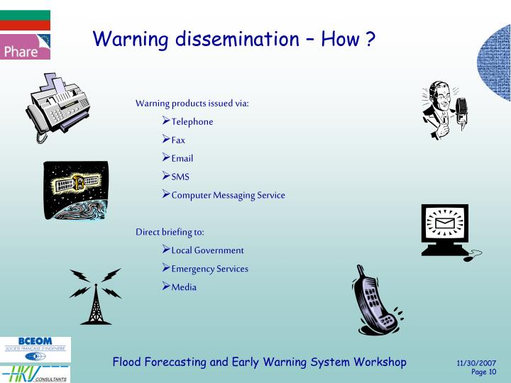Warning dissemination – How ?