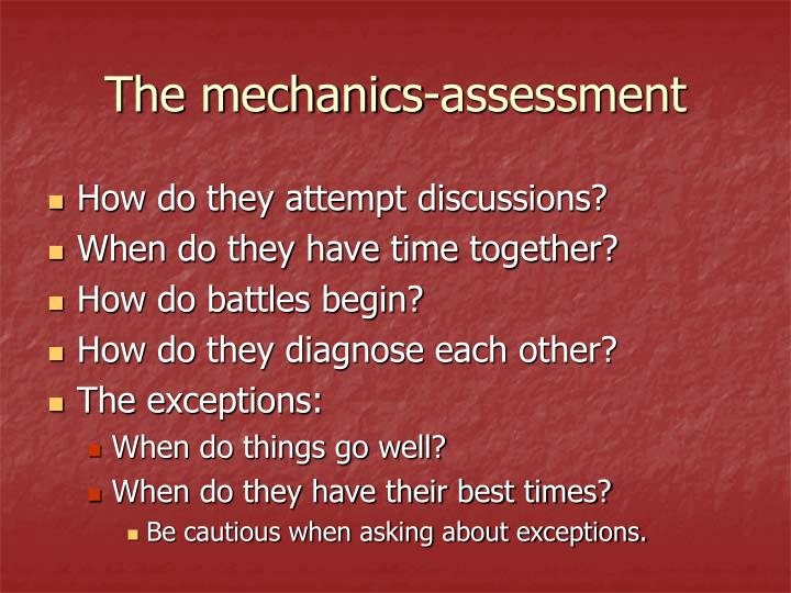 The mechanics-assessment
