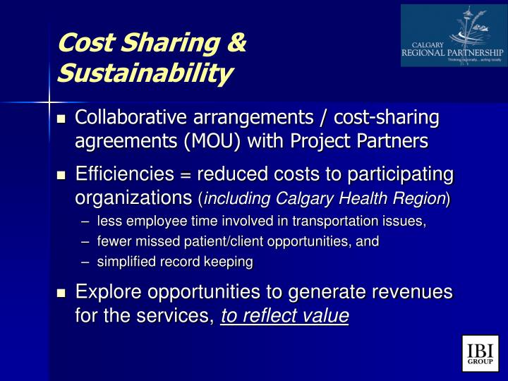 Cost Sharing &