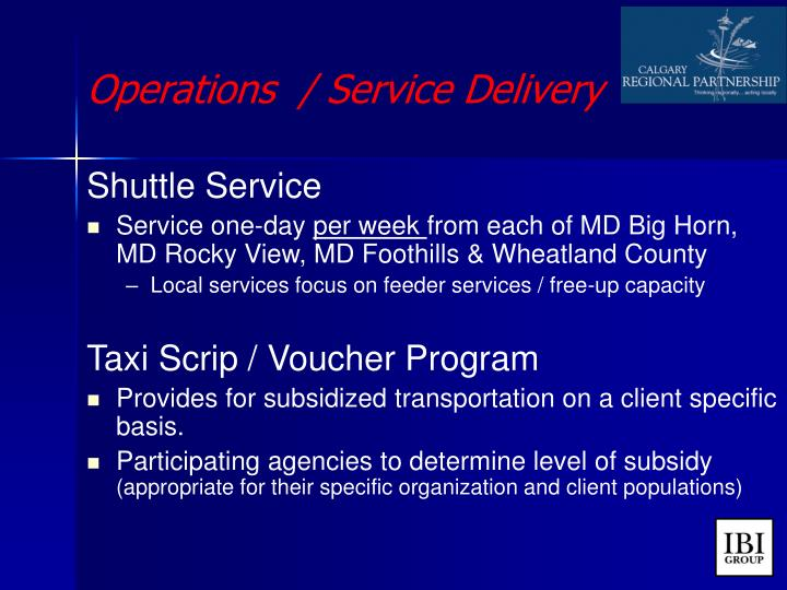 Operations  / Service Delivery
