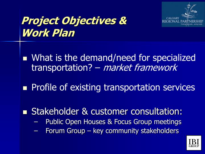 Project Objectives &