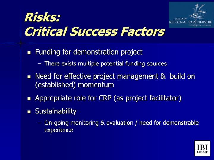 Risks: