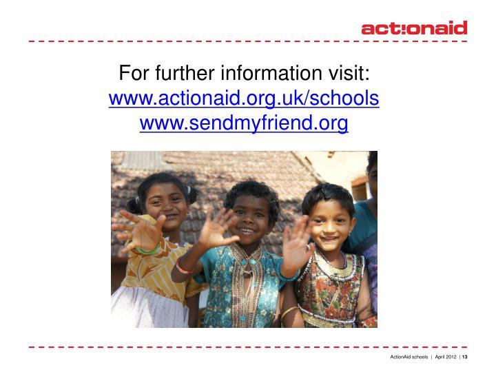 For further information visit: