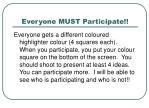 everyone must participate