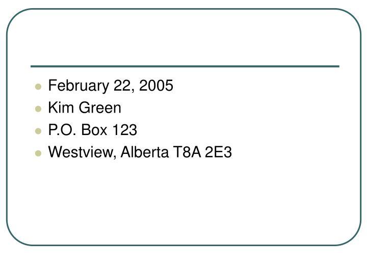 February 22, 2005