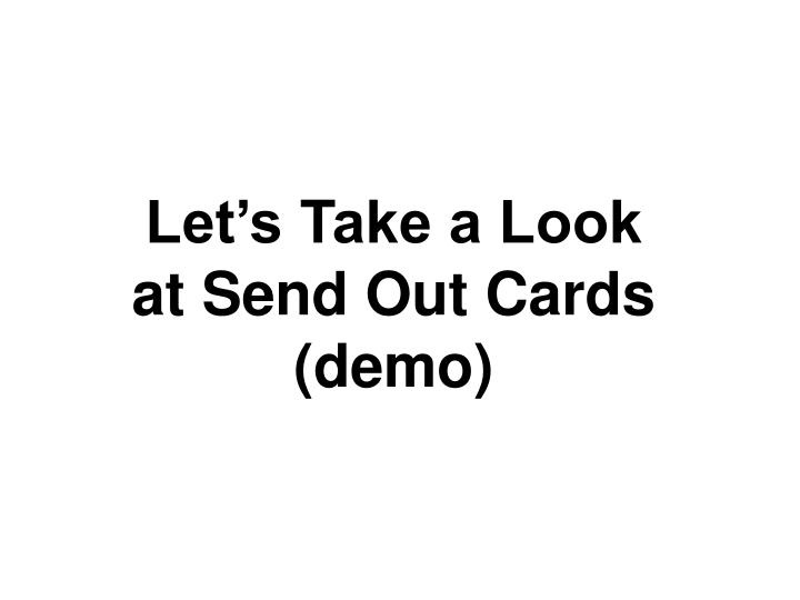 Let's Take a Look at Send Out Cards
