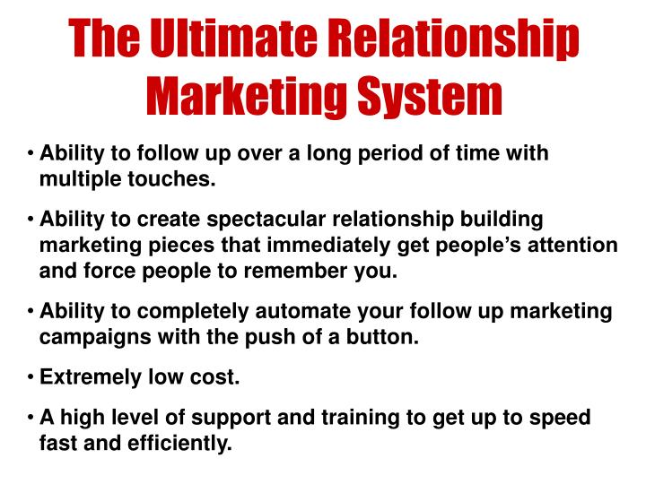 The Ultimate Relationship Marketing System