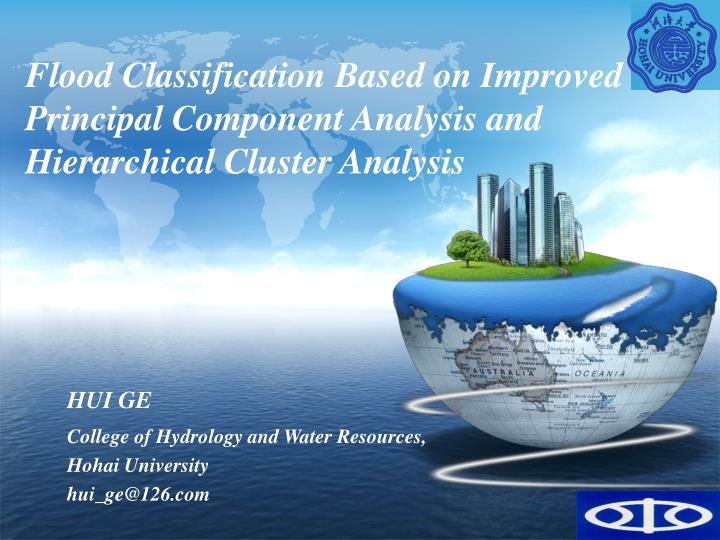 Flood Classification Based on Improved Principal Component Analysis and Hierarchical Cluster Analysi...