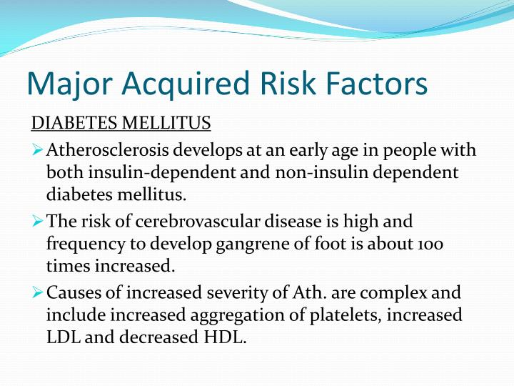 Major Acquired Risk Factors