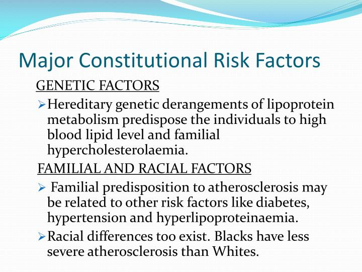 Major Constitutional Risk Factors