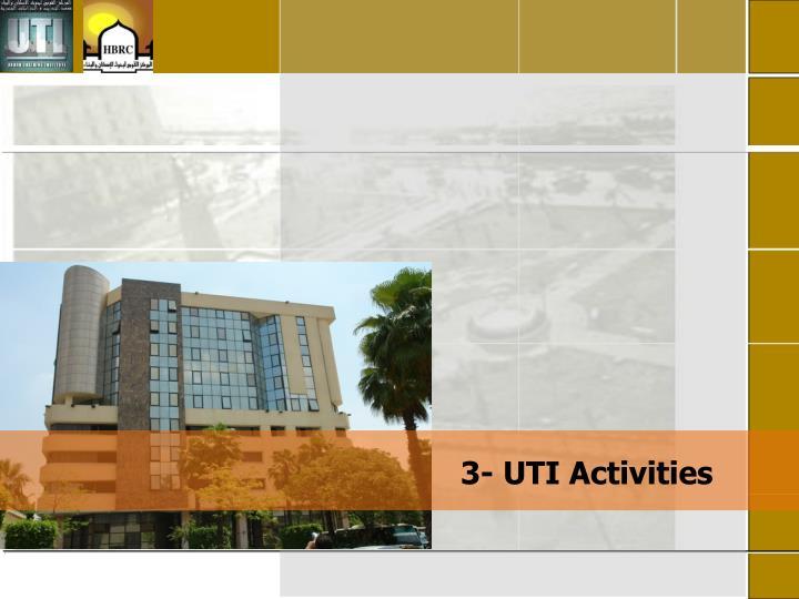 3- UTI Activities
