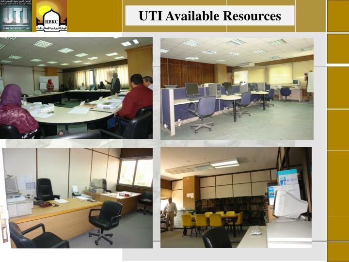 UTI Available Resources