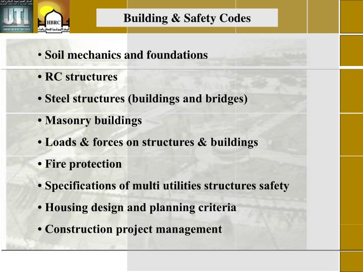Building & Safety Codes