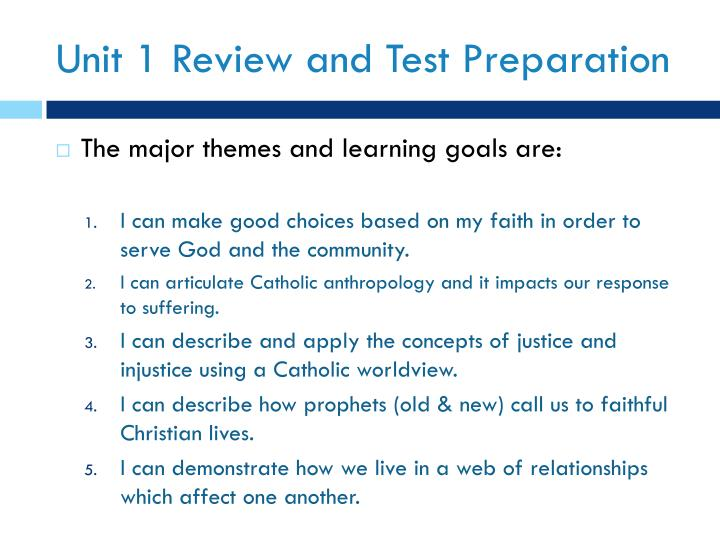 Unit 1 Review and Test