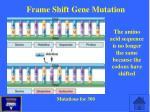 frame shift gene mutation