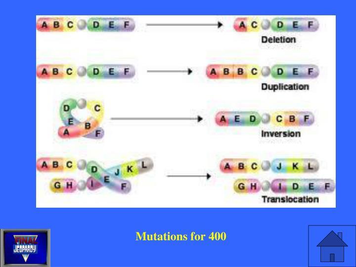 Mutations for 400
