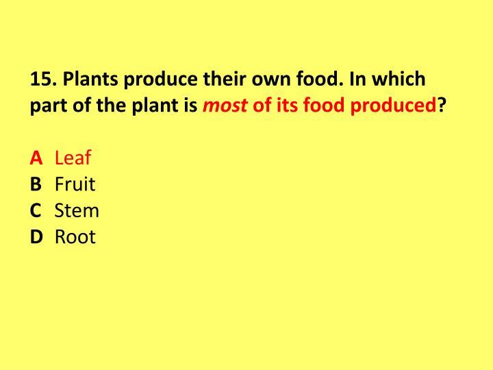 15. Plants