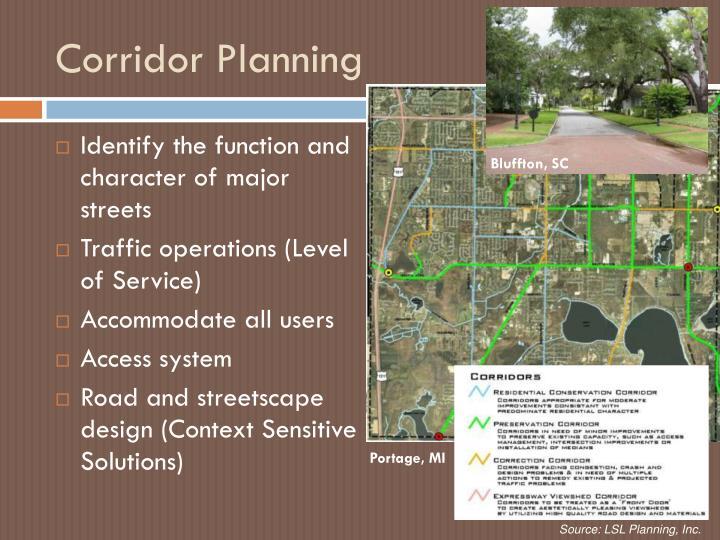 Corridor Planning